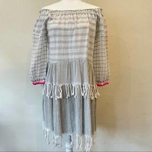 Lemlem Anan off-the-shoulder striped dress M